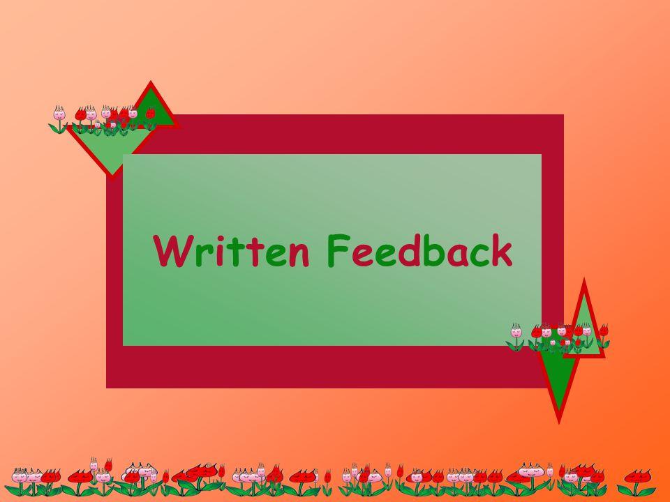 Written FeedbackWritten Feedback