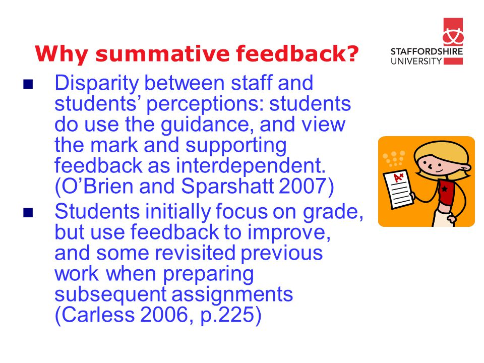 Why summative feedback.