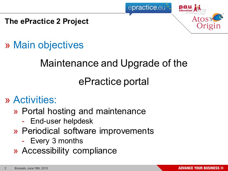 4 Brussels, June 16th, 2010 »The ePractice 2 project »Foreseen features »User feedback tools Agenda