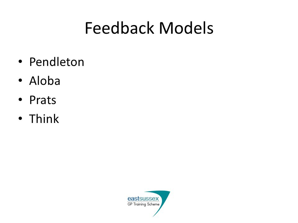 Feedback Models Pendleton Aloba Prats Think
