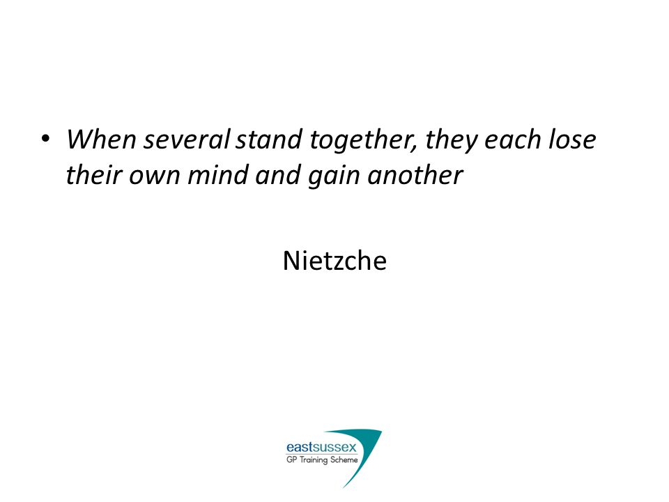 When several stand together, they each lose their own mind and gain another Nietzche