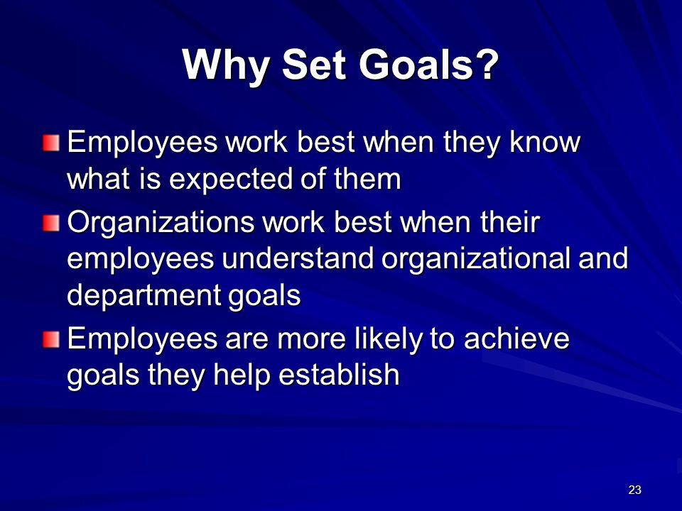 23 Why Set Goals.