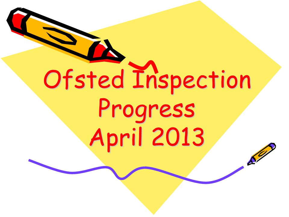 Feedback from Ofsted Inspection Progress April 2013