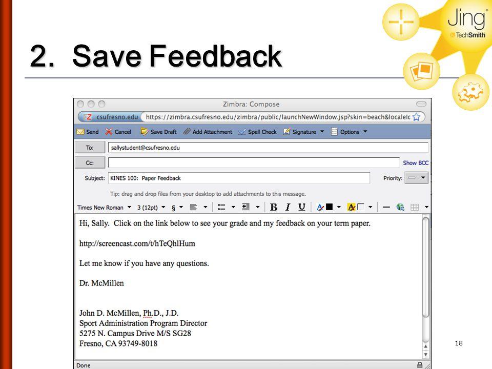 2. Save Feedback 18