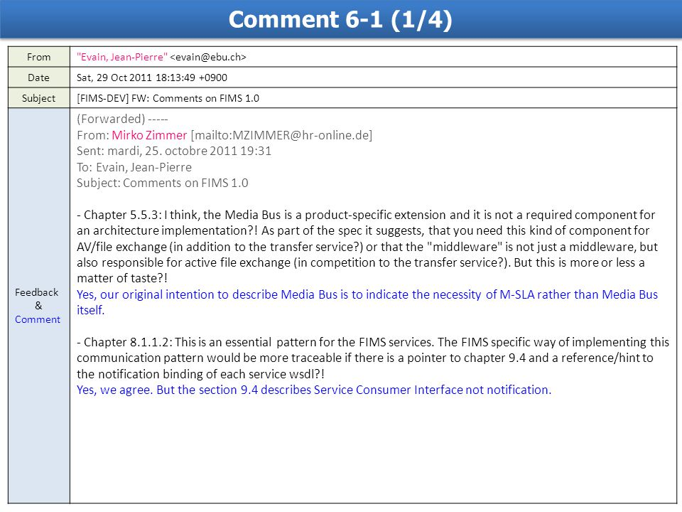 Comment 6-1 (1/4) From