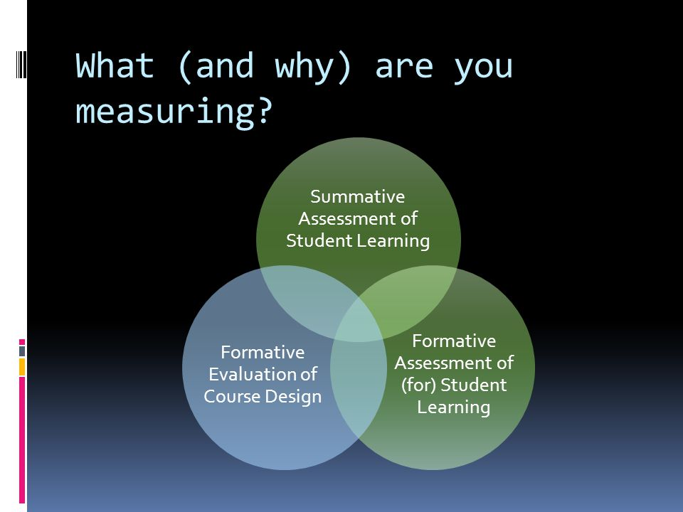 What (and why) are you measuring.