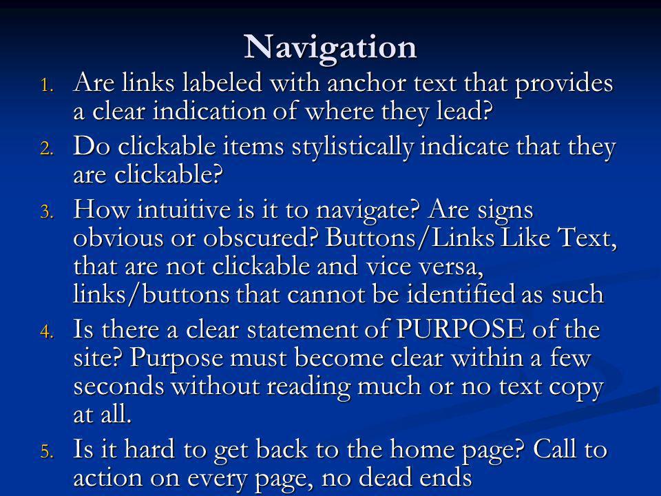 Navigation 1.