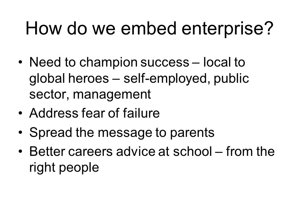 How do we embed enterprise.