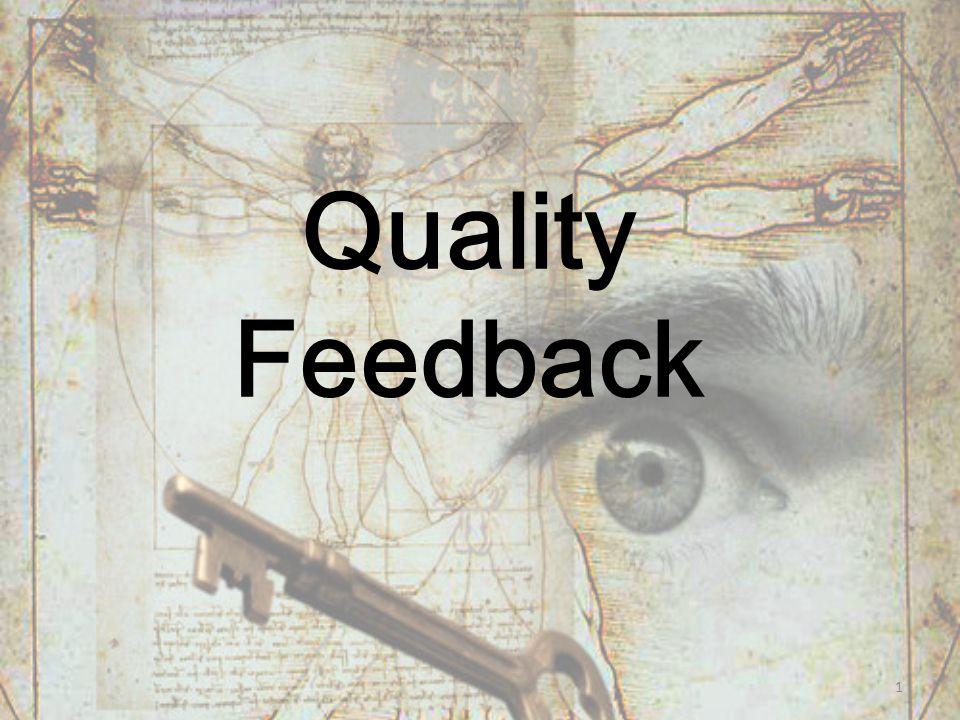 Quality Feedback 1