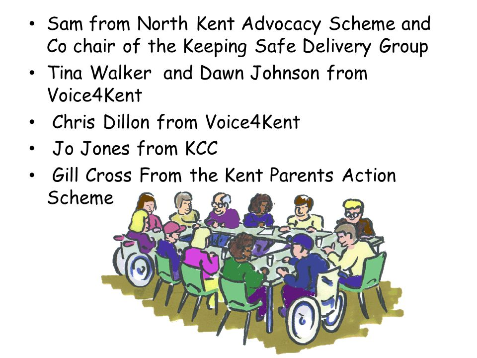 Voice4kent put an agenda together; Background of the Delivery Groups, Cabinet, Partnership Board and District Groups and how it all fits together Looking at ideas for the structure of the Citizenship Delivery Group and how it could work Agree a plan
