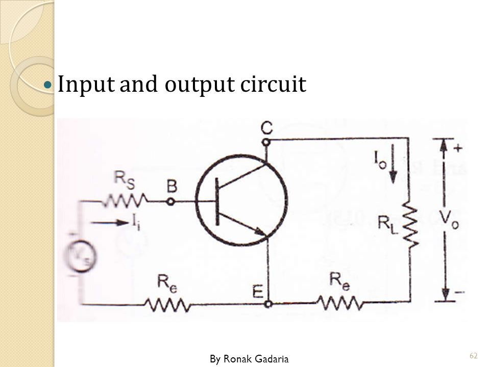 Input and output circuit By Ronak Gadaria 62