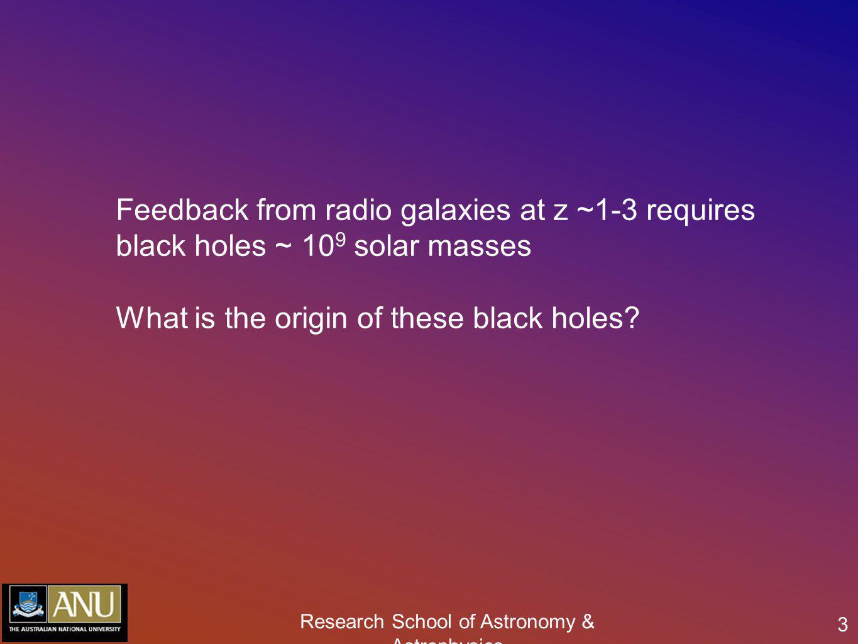 Research School of Astronomy & Astrophysics 24 High redshift radio galaxies: MRC 0406-244 z=2.42 radio galaxy MRC0406-244 Nesvadba et al.