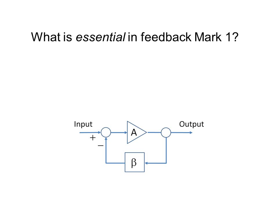 What is essential in feedback Mark 1?