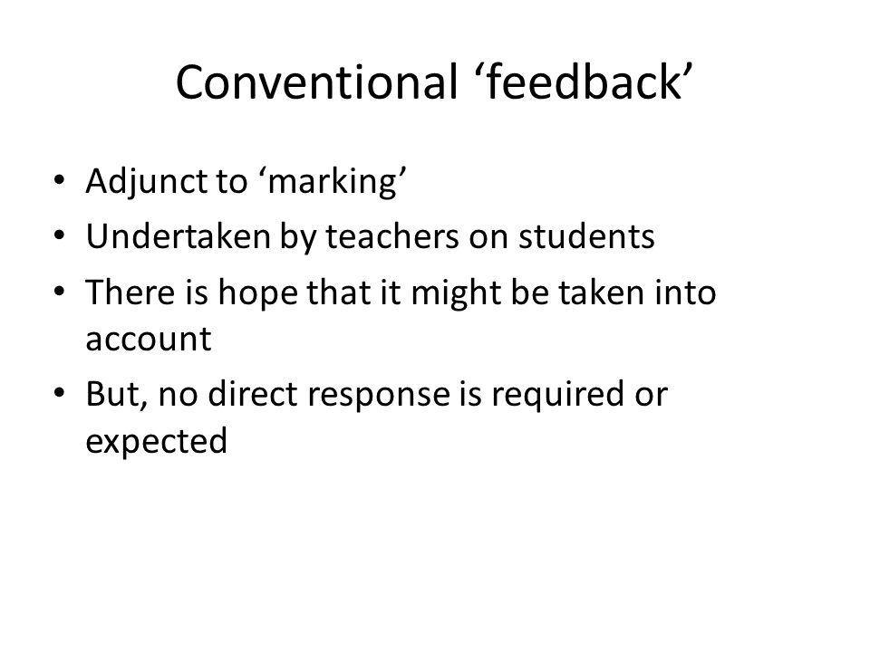 Elements of self regulation focus capacity to create internal feedback.