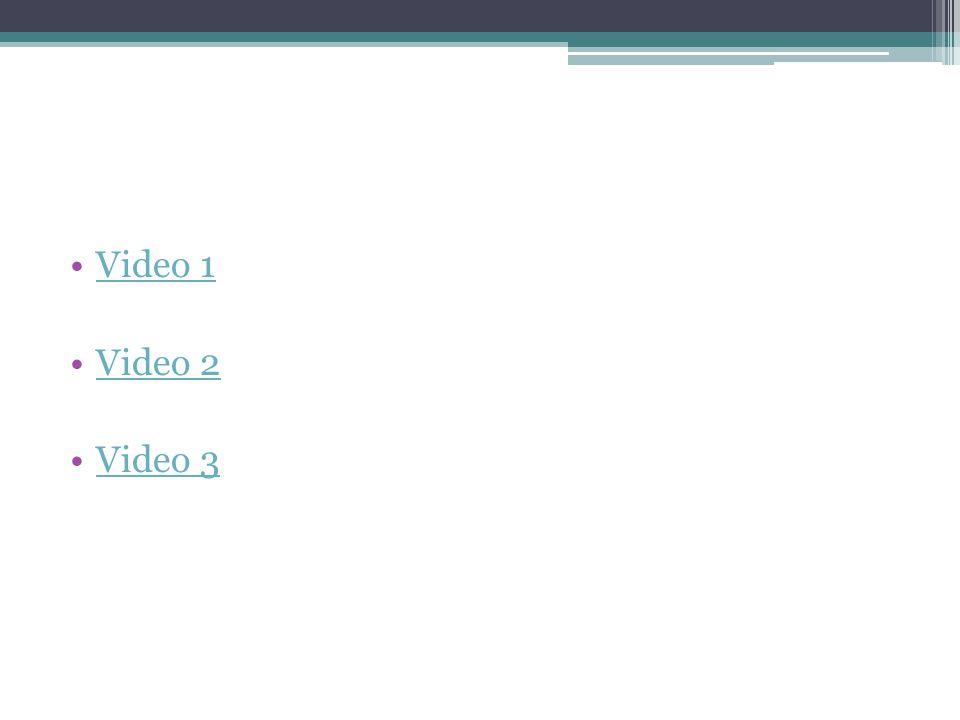Video 1 Video 2 Video 3