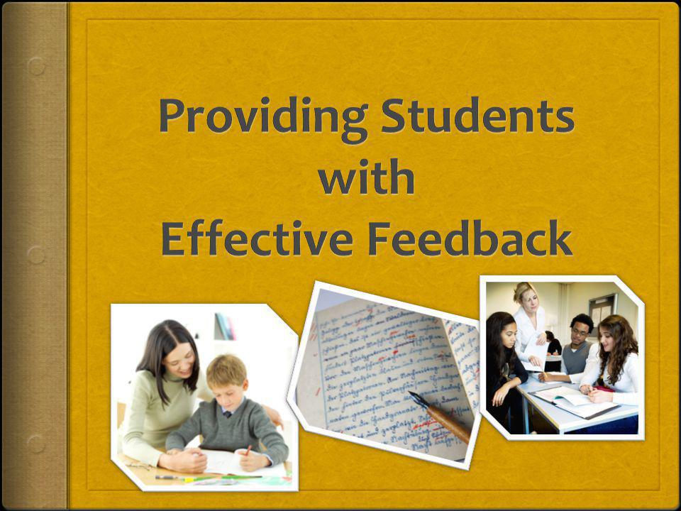 Power of Accurate Feedback Immediate impact on results Lower failures Better attendance Fewer suspensions Failure here undermines EVERY OTHER EFFORT in curriculum, assessment, and teaching ~ Douglas Reeves, Asilomar Conference 2009 Powerpoint