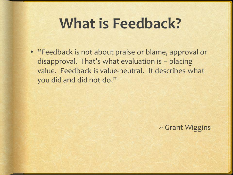 What is Feedback.