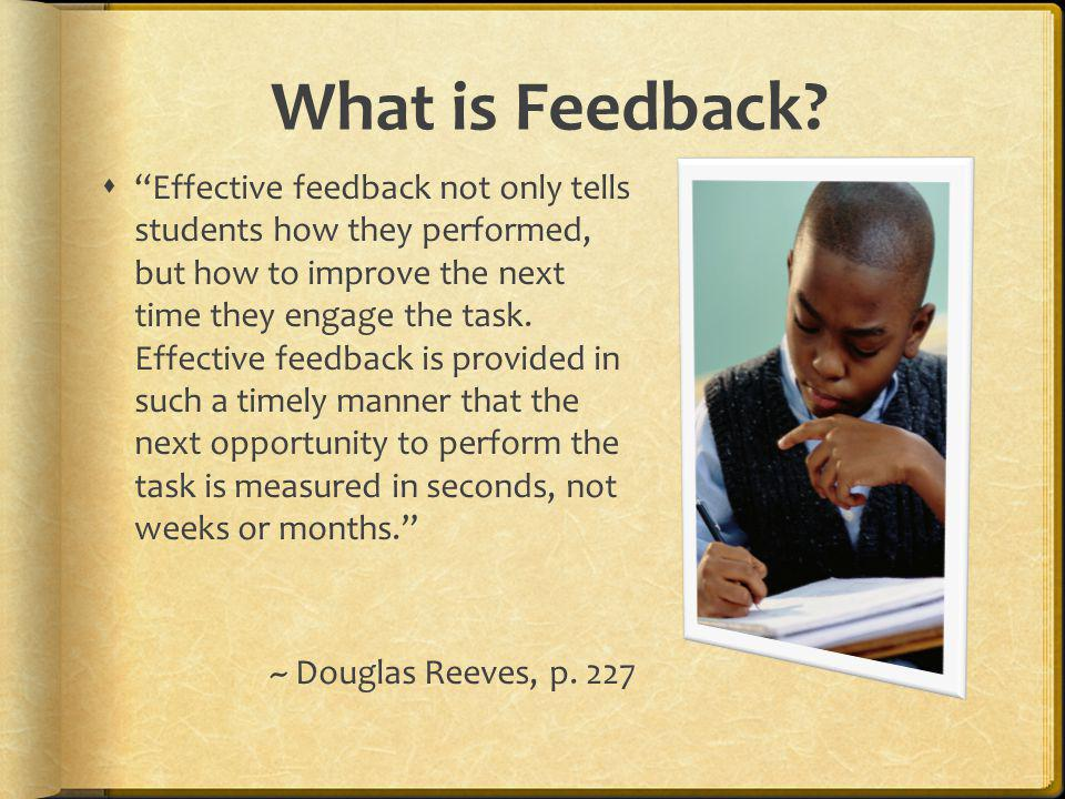 Feedback Focus Academic Behavioral