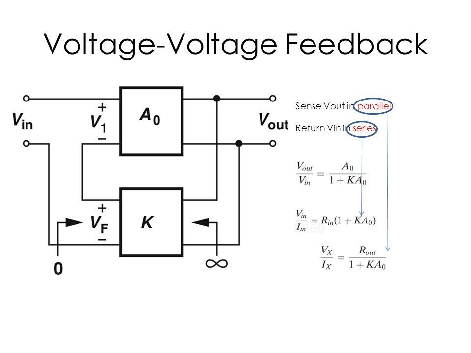 Voltage-Voltage Feedback Sense Vout in parallel Return Vin in series
