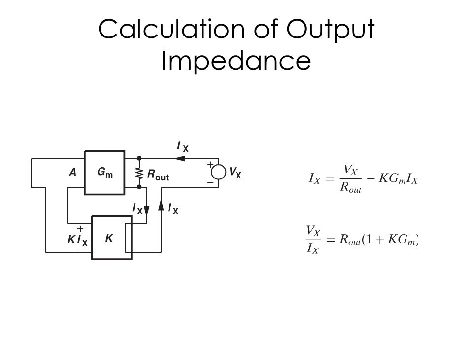 Calculation of Output Impedance