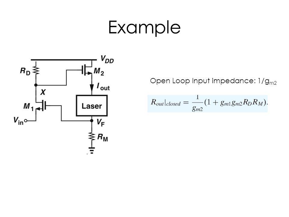 Example Open Loop Input impedance: 1/g m2