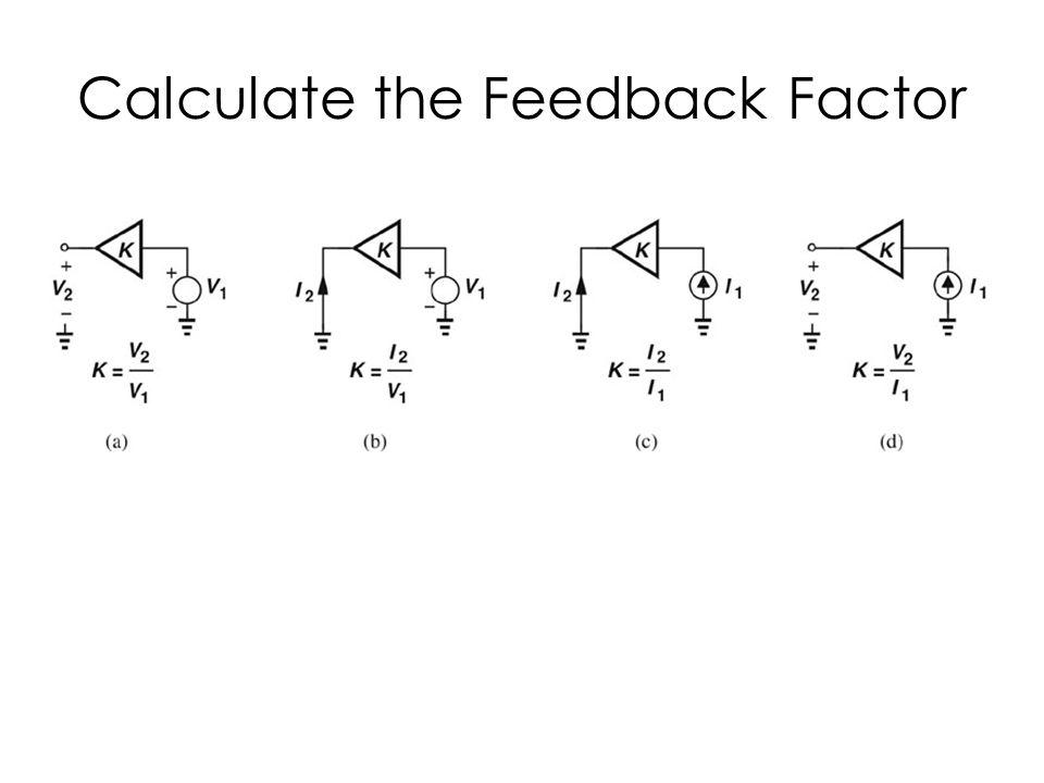 Calculate the Feedback Factor