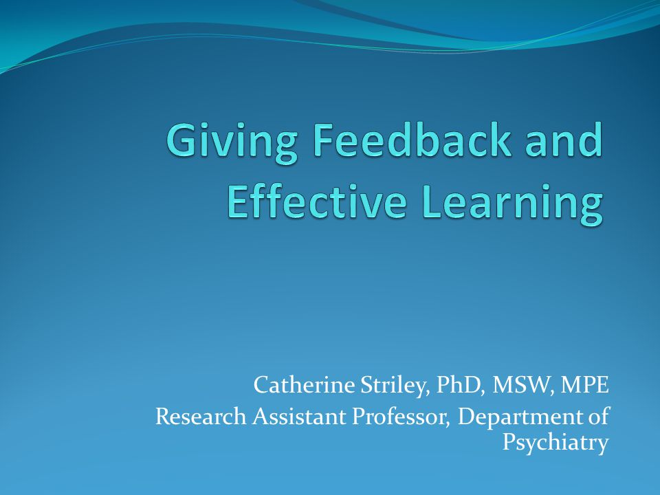 Catherine Striley, PhD, MSW, MPE Research Assistant Professor, Department of Psychiatry