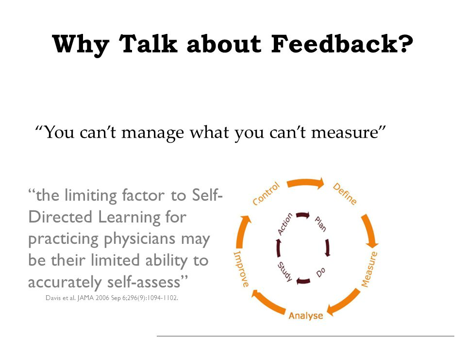 Why Talk about Feedback.