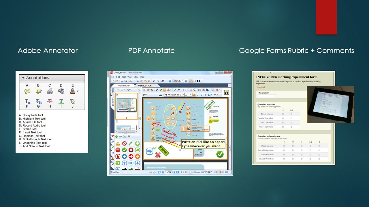 Adobe AnnotatorPDF AnnotateGoogle Forms Rubric + Comments