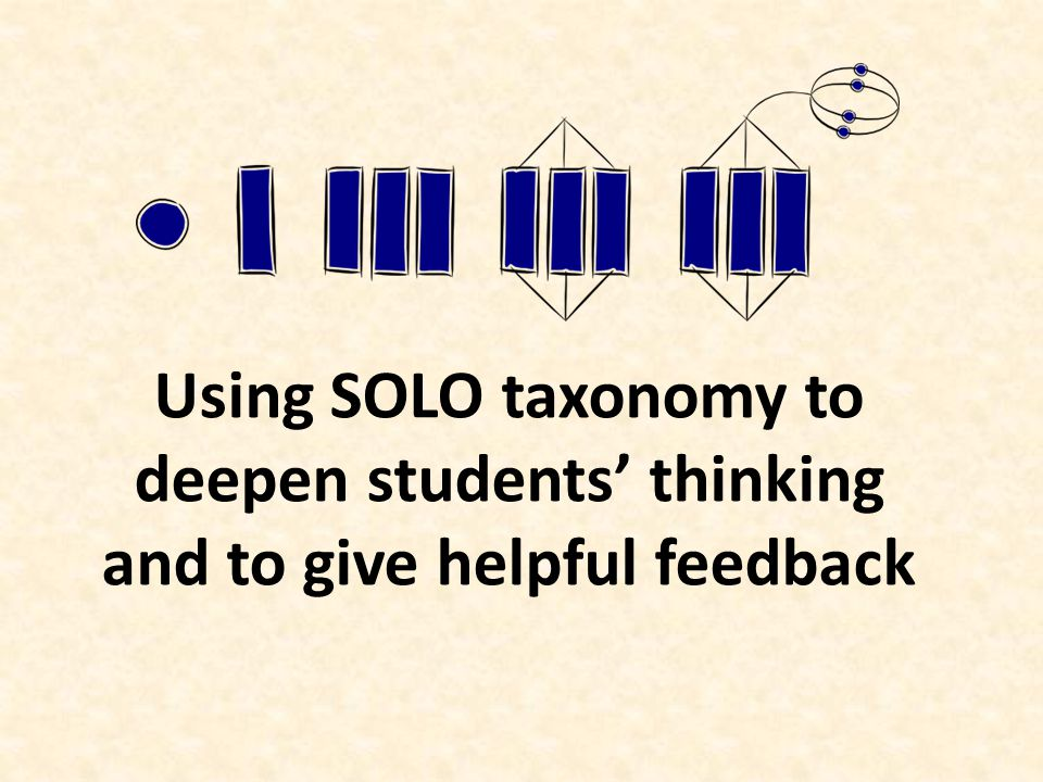 Using SOLO taxonomy to deepen students thinking and to give helpful feedback
