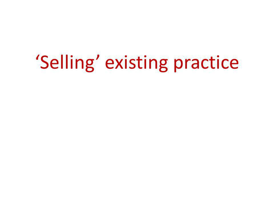 Selling existing practice