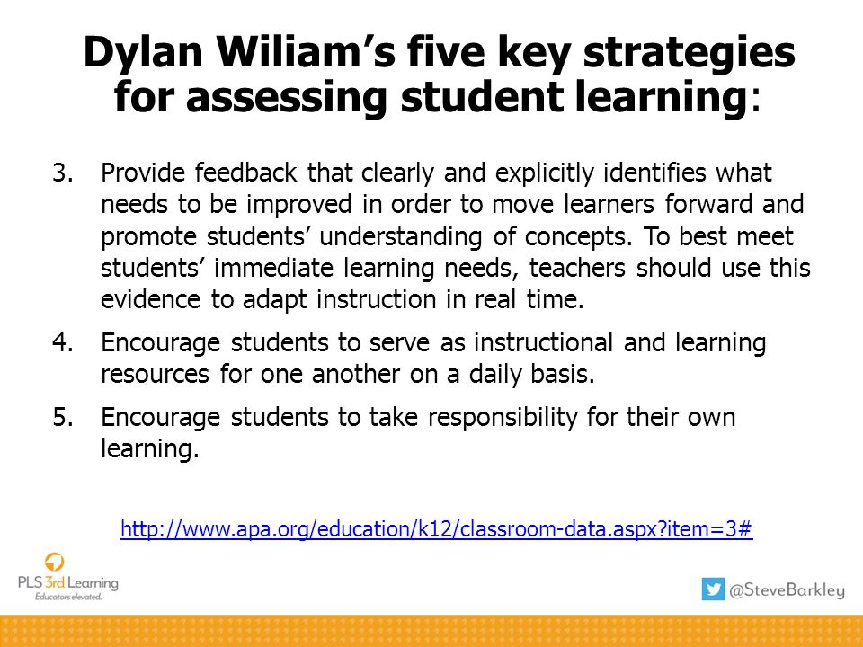 3.Provide feedback that clearly and explicitly identifies what needs to be improved in order to move learners forward and promote students understanding of concepts.