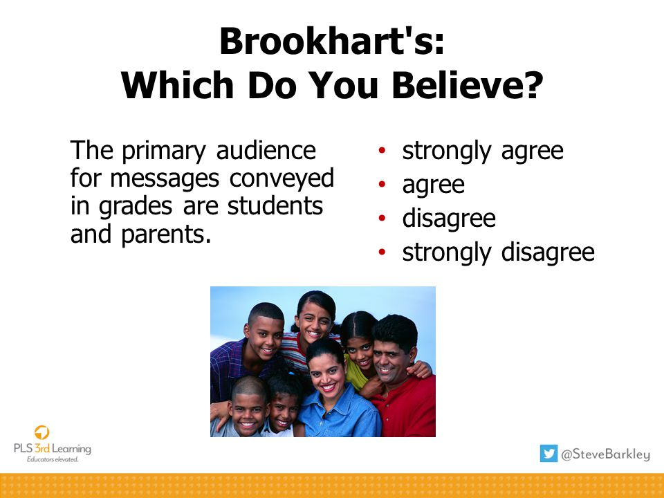 Brookhart s: Which Do You Believe.