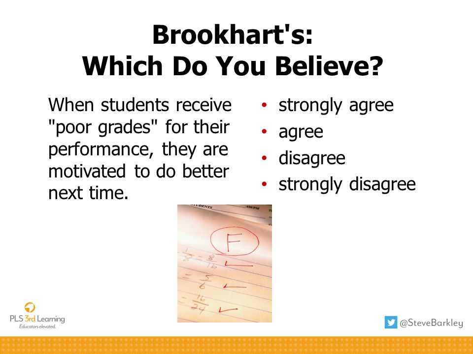 Brookhart's: Which Do You Believe? When students receive