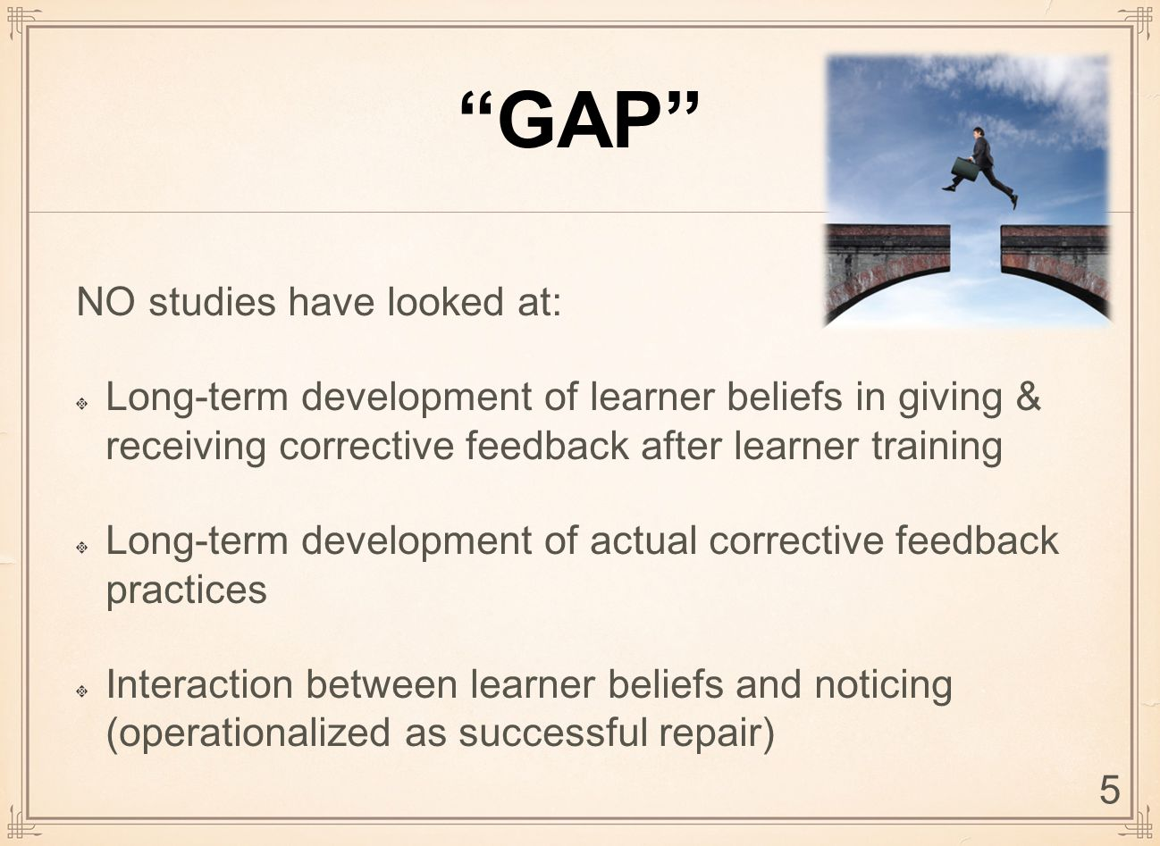 DISCUSSION: RQ2 RQ2: What is the relationship between beliefs and practices regarding corrective feedback.