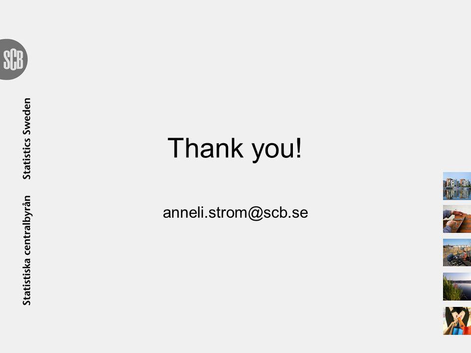 Thank you! anneli.strom@scb.se