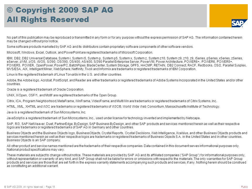 ©SAP AG 2009. All rights reserved.