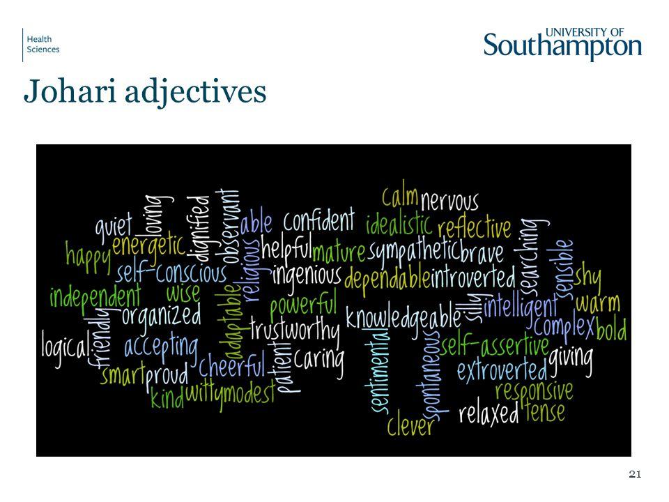 Johari adjectives 21