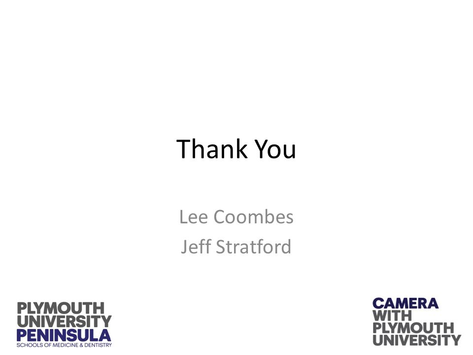 Thank You Lee Coombes Jeff Stratford