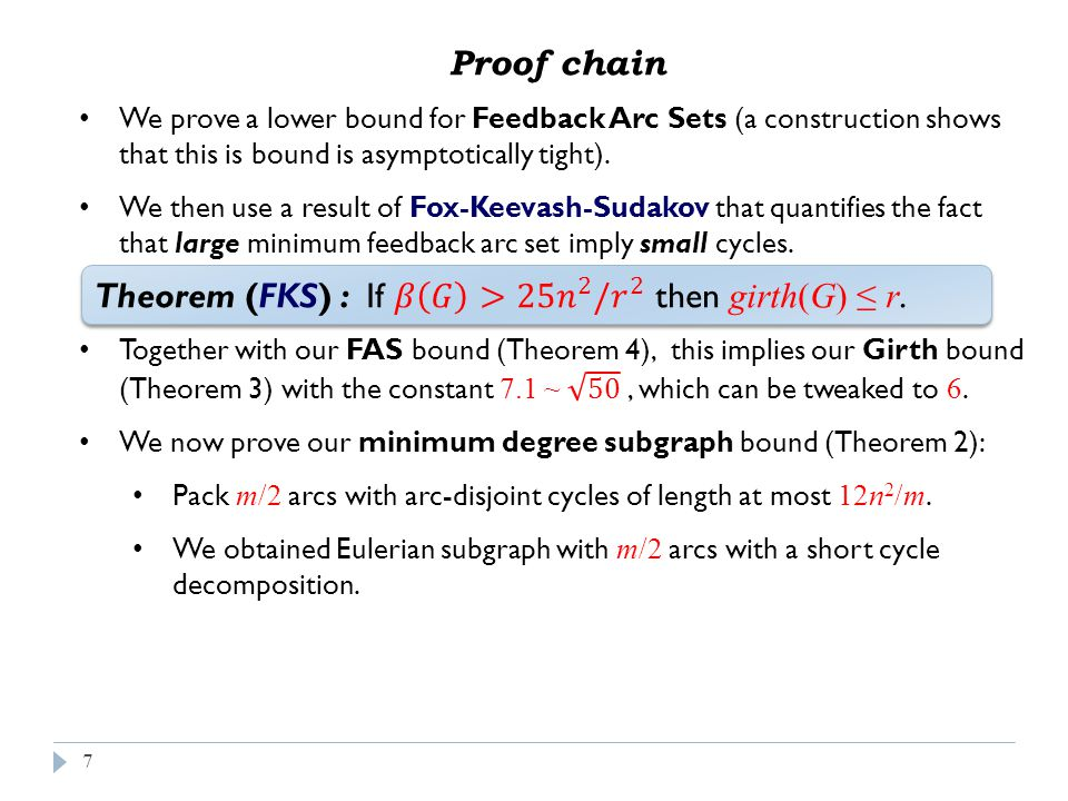 18 Proof sketch – long version (cont.)