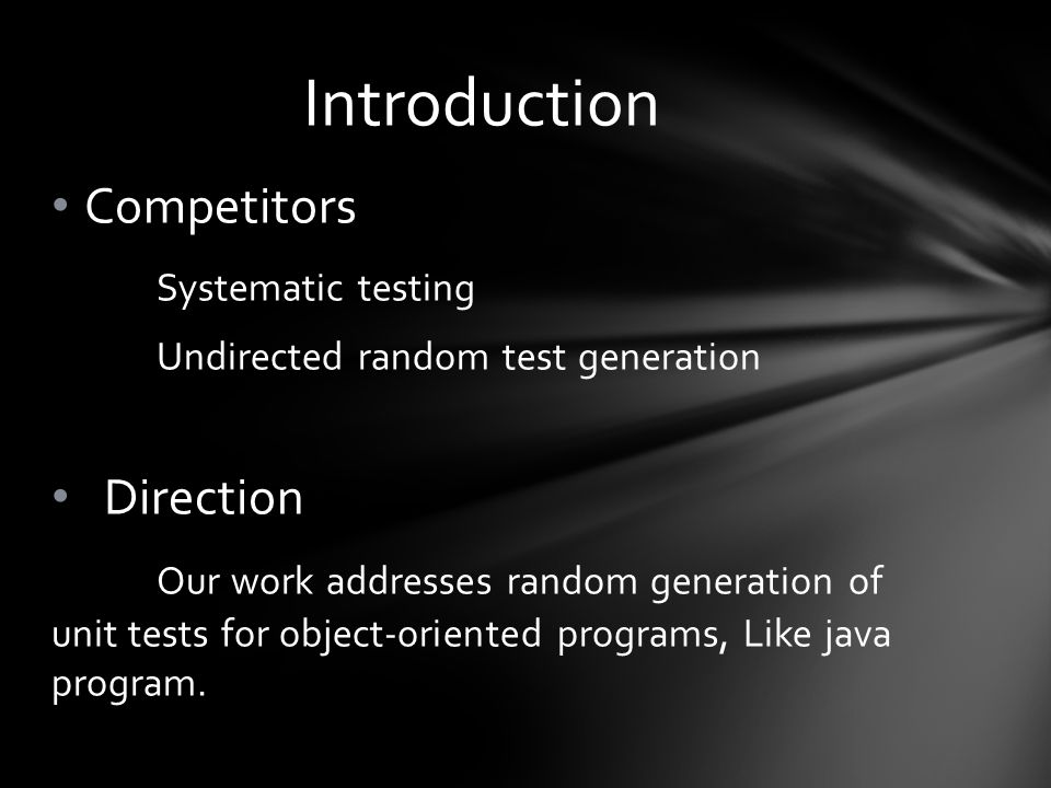 Third, we performed undirected random testing on each library: We reran RANDOOP a second time but without the filters.