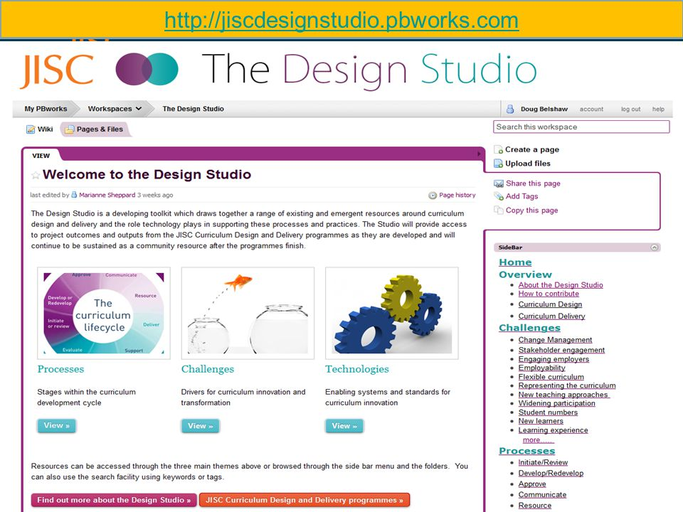 http://jiscdesignstudio.pbworks.com