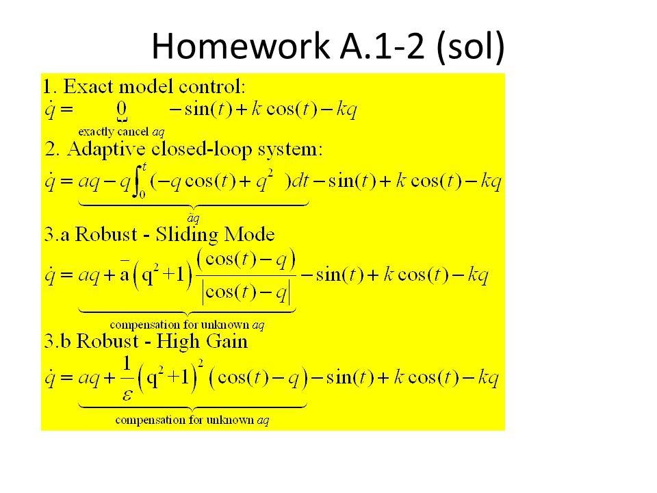 Homework A.1-2 (sol)