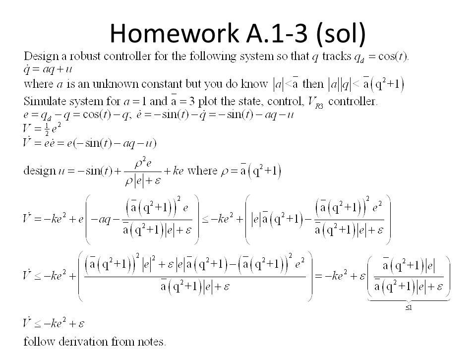 Homework A.1-3 (sol)