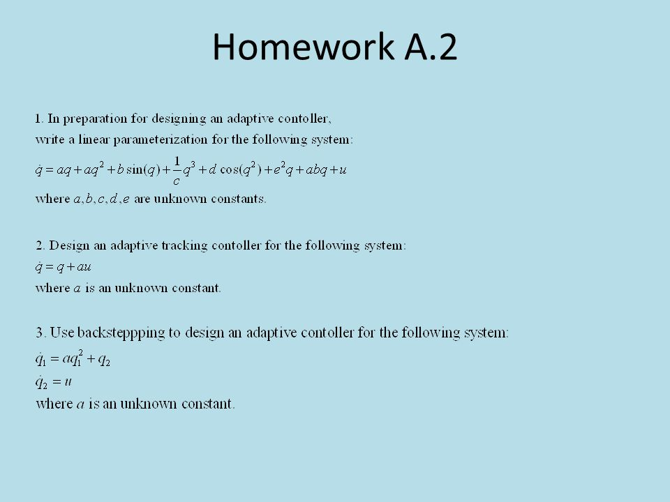 Homework A.2