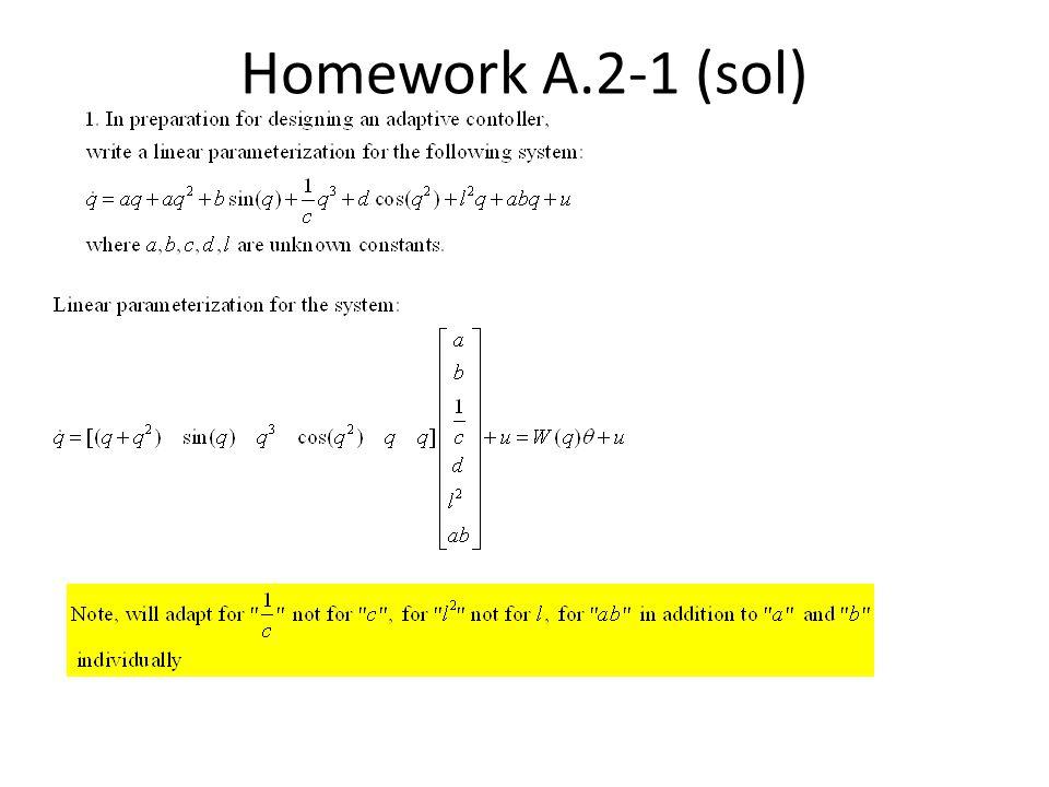 Homework A.2-1 (sol)