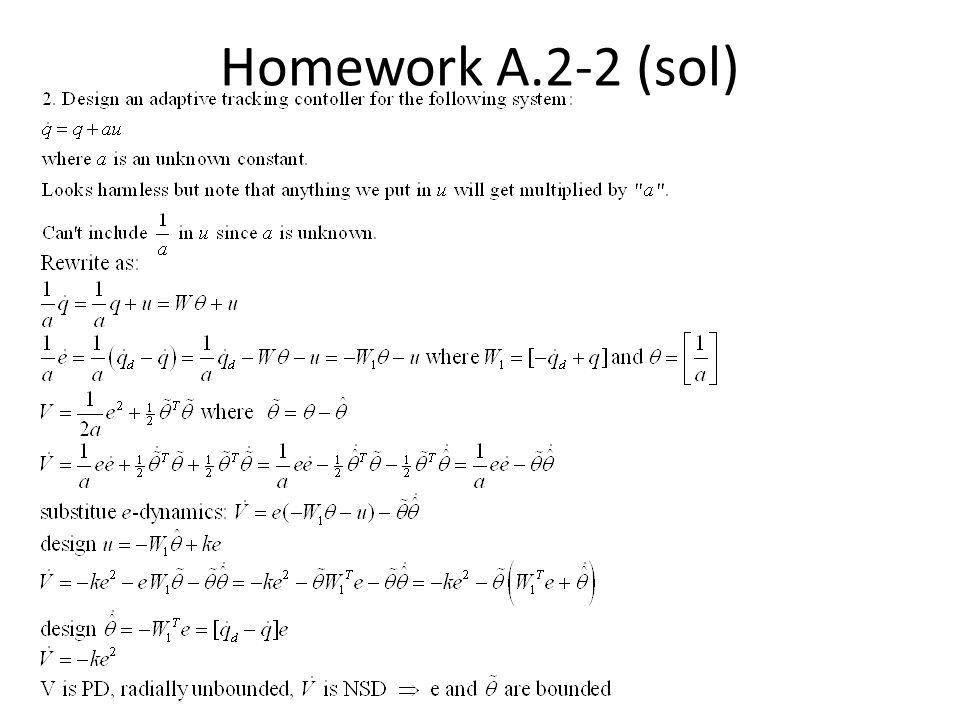 Homework A.2-2 (sol)