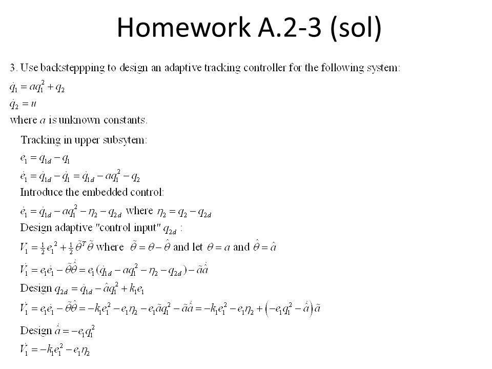 Homework A.2-3 (sol)