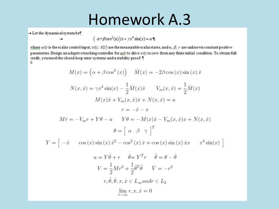 Homework A.3
