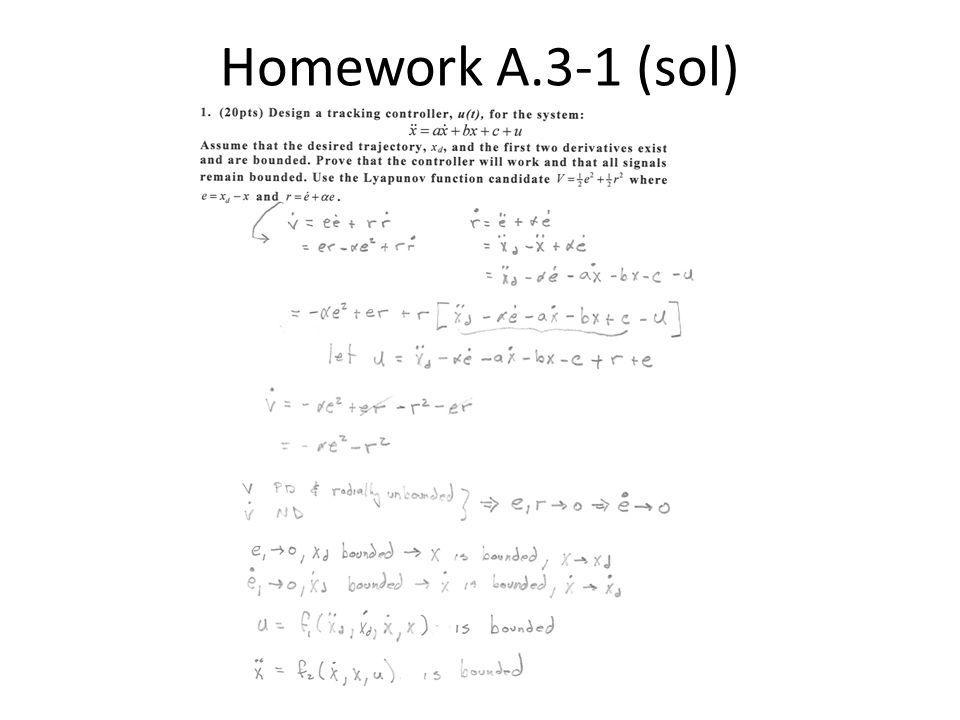 Homework A.3-1 (sol)